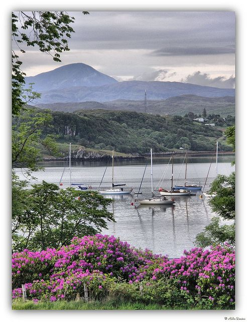 The Sound of Raasay from Portree, Isle of  #Skye in Scotland