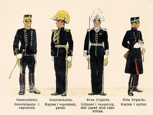 1930 swedish military uniform fashions lithograph swedish military