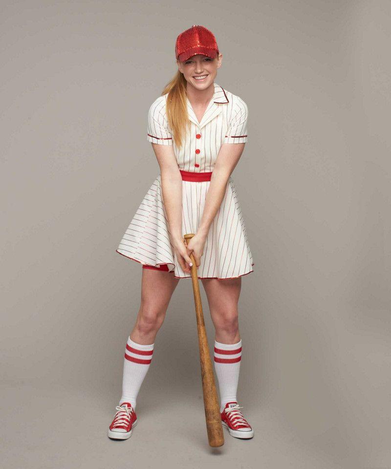 Retro Baseball Player Costume For Women Chasing Fireflies Baseball Dress Costumes For Women Baseball Player Costume
