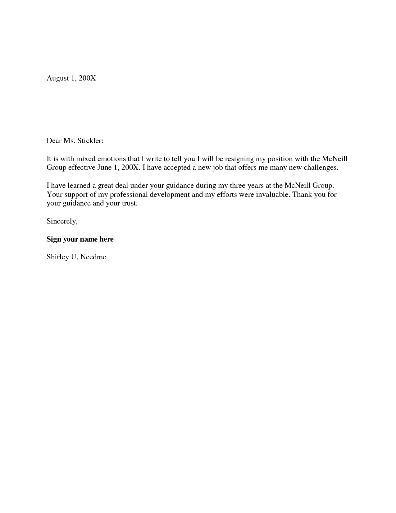 Resignation Letter Two Weeks Notice from i.pinimg.com