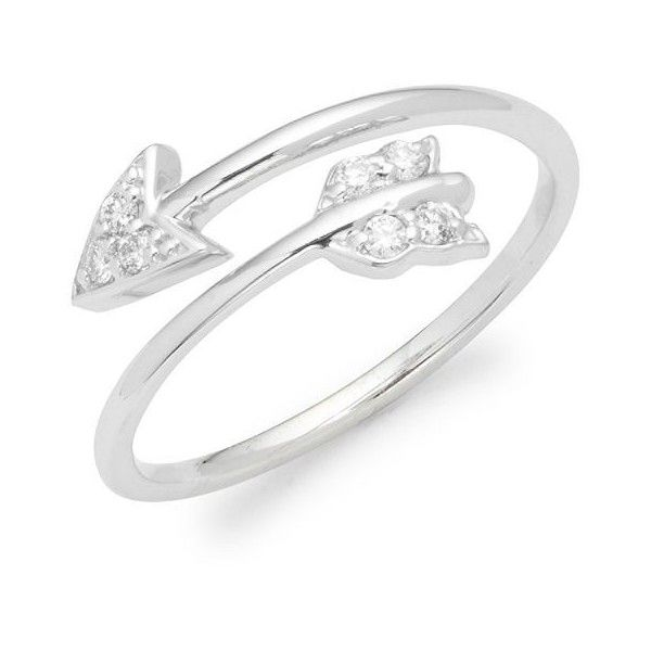 KC Designs Diamond & 14K White Gold Arrow Ring ($528) ❤ liked on Polyvore featuring jewelry, rings, 14 karat gold ring, 14k ring, 14 karat gold diamond ring, diamond jewelry and 14 karat white gold ring