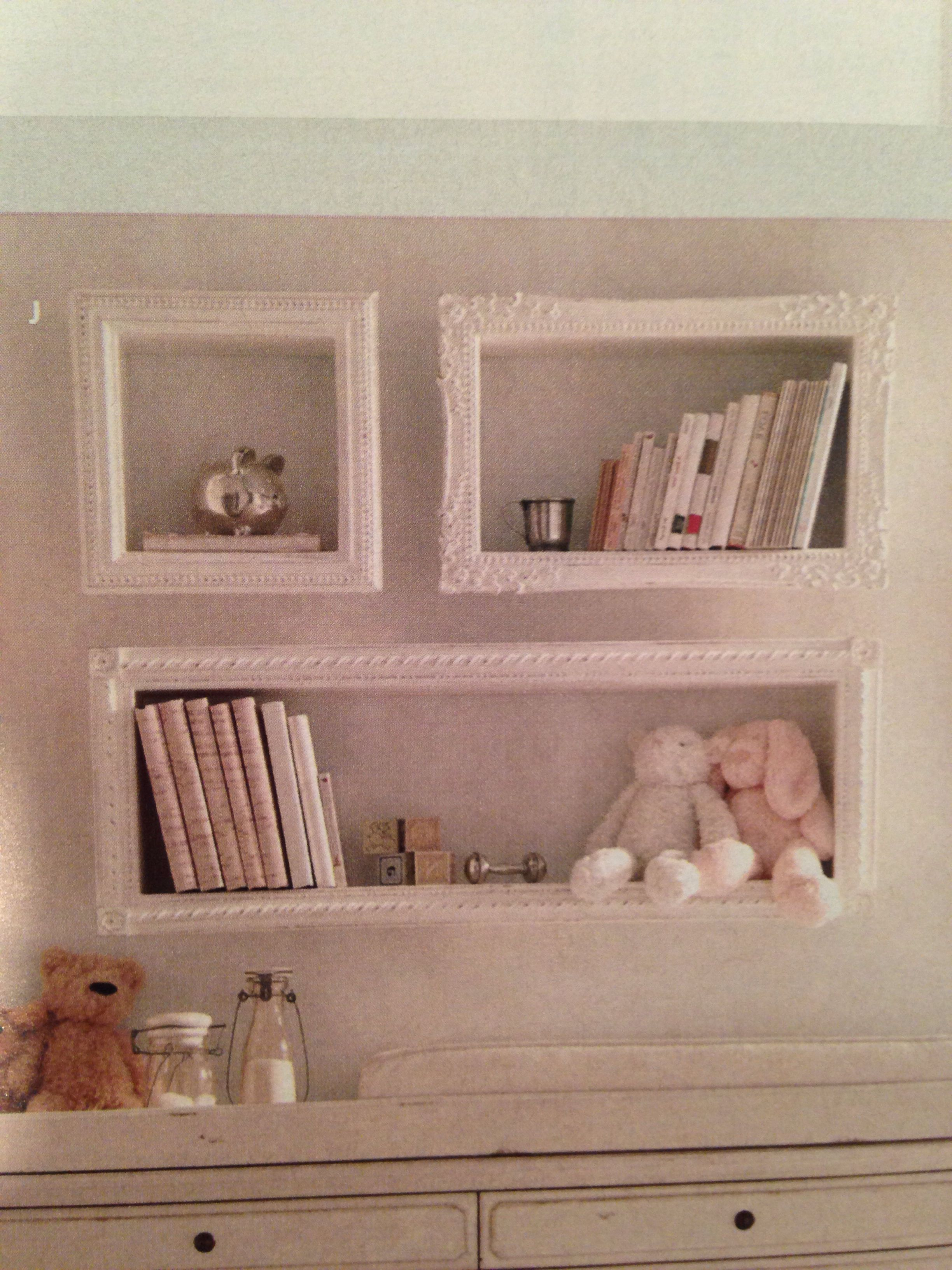 Hobby lobby frames and add ledge to stick out What a great idea I