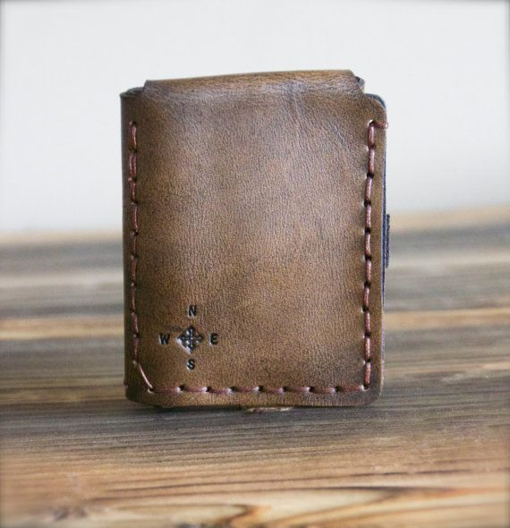 Walter Mitty Life Motto Leather Wallet Compass by ...
