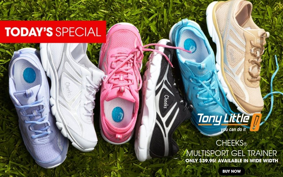 60f21946059 HSN - Tony Little Cheeks® Multi Sport Gel Trainer with DVD