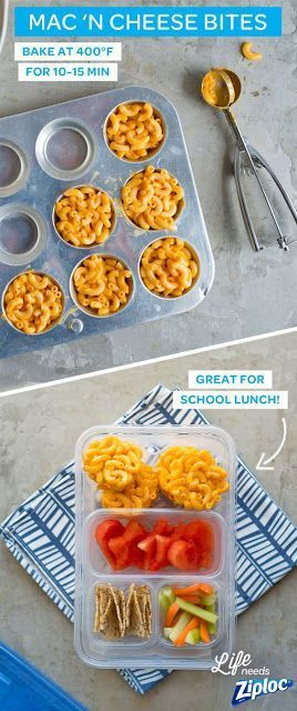 Here is an easy and FUN bento box lunch idea for your kids. If your kids LOVE Mac'n cheese like mine do, then you can serve these MAC'n cheese bites in their bento box for lunch.