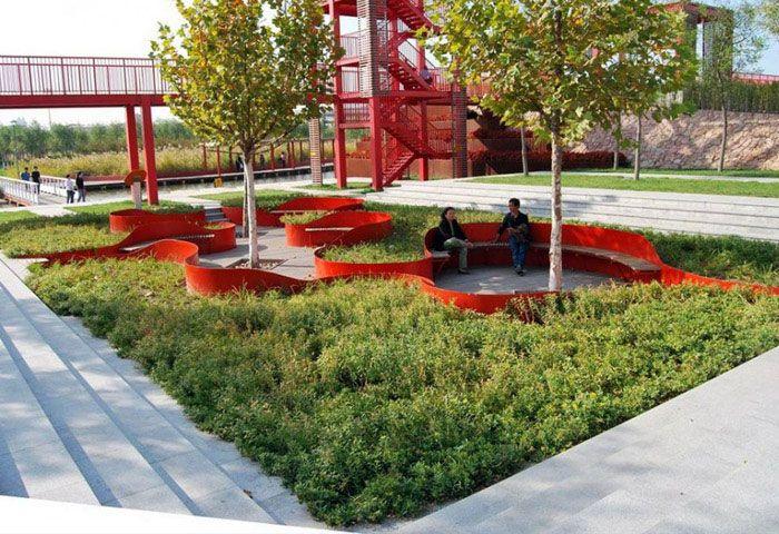 Urban Park Urban Landscape Design Landscape Architecture Parking Design