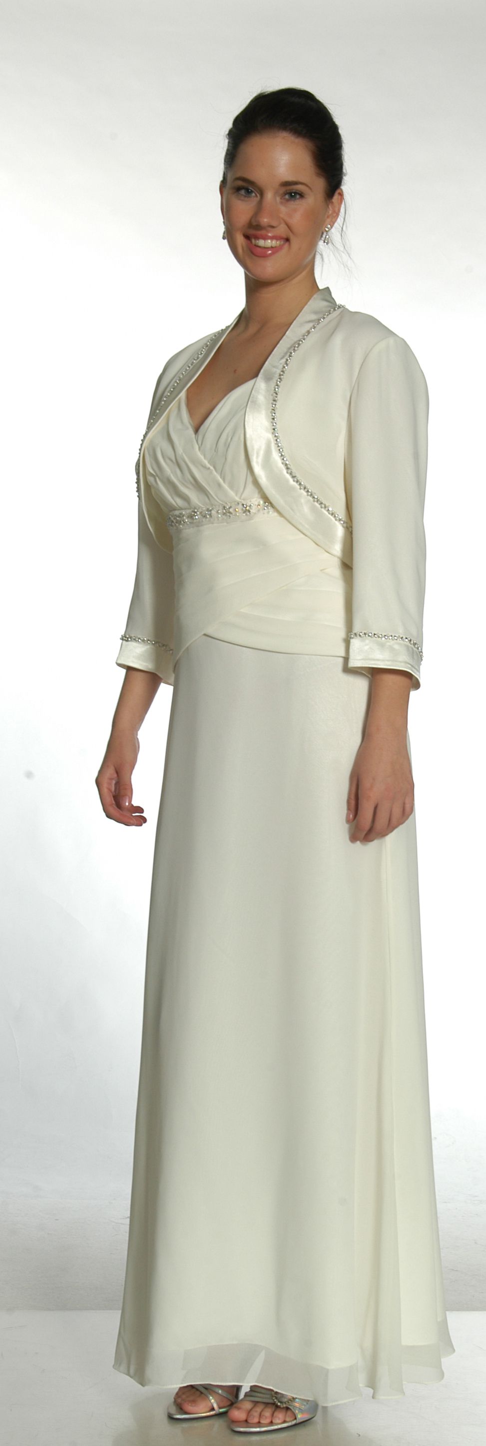 This Night Scene Dress Is Beautiful In Stock Ivory