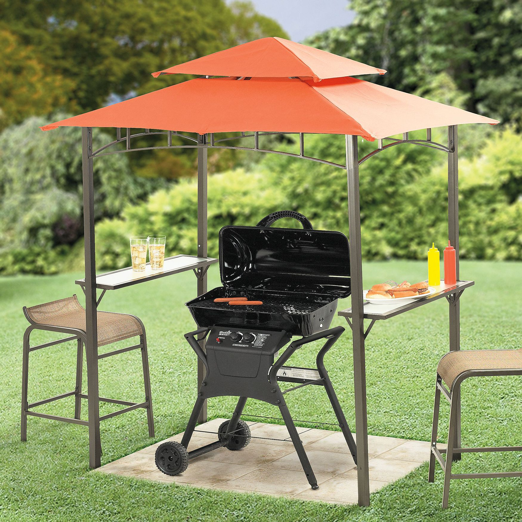Perfect for the apartment/condo patio. Mini Grill-Zebo | Gazebos ...