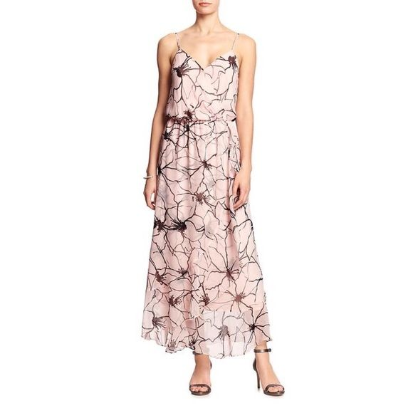 Banana Republic • Pink Floral Maxi Dress NWT• The sweetest, most ...