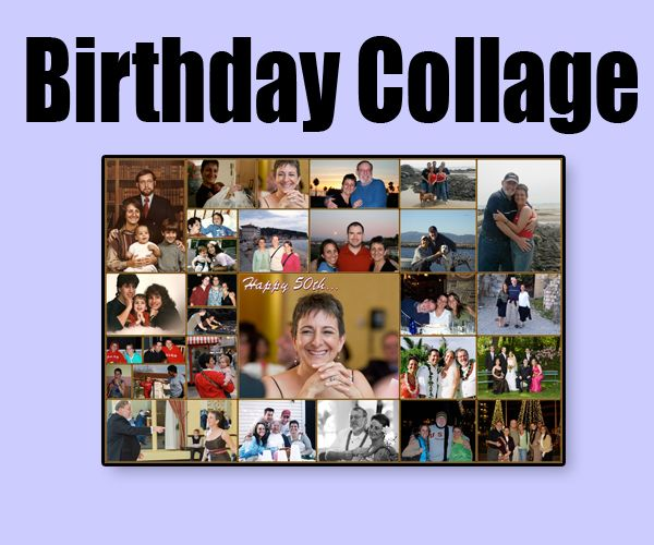 Custom 25 Birthday photo collage design for women on her ...