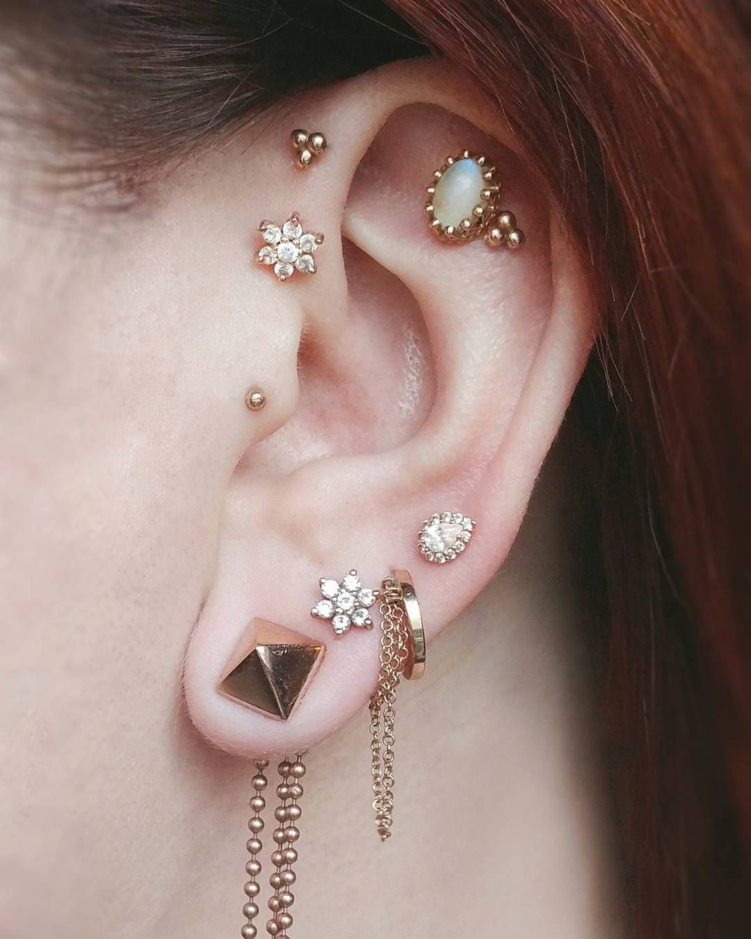 A Moment Of Silence For All Of These Well Healed Piercings That Will
