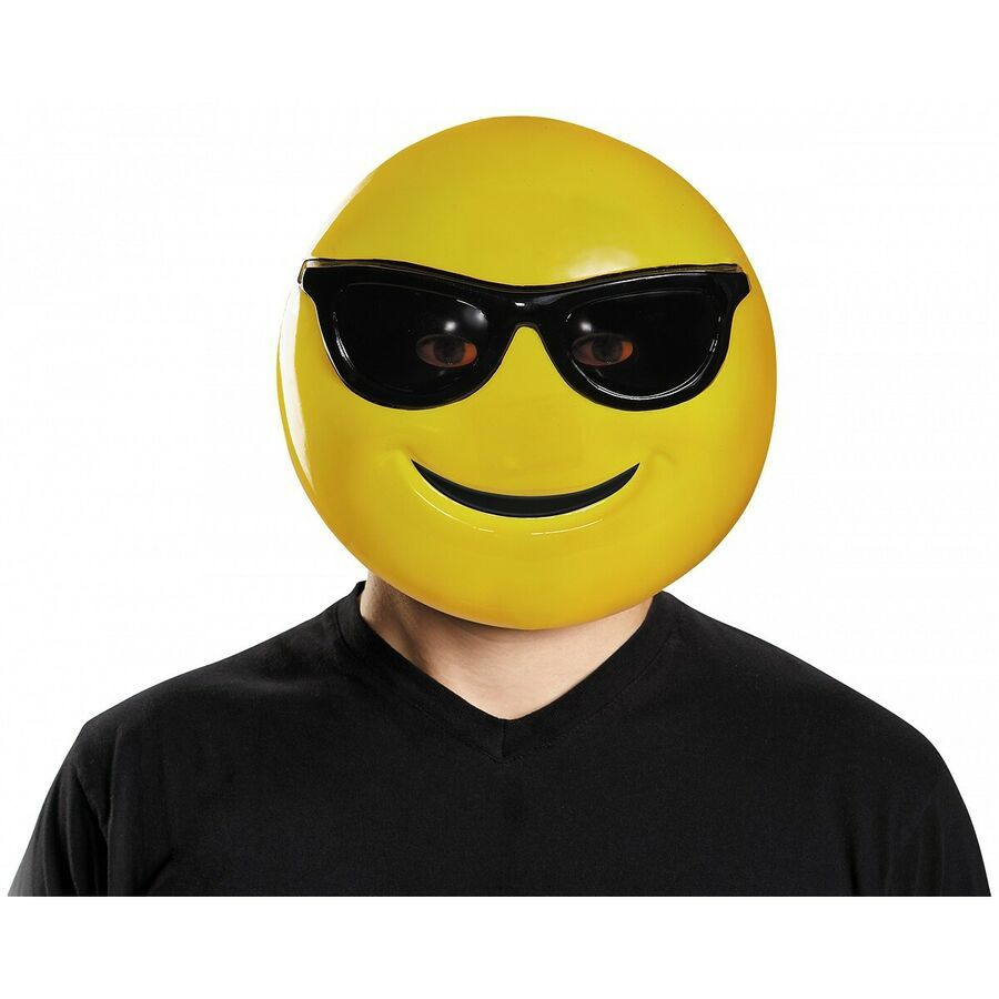 Cool Emoji Costume Adult Unisex Sunglasses Emoticon Costumes Party Fancy Dress