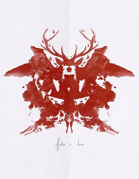 hannibal rorschach test - wish this is how my inkblot turned out when I had to create one in psychology at school haha