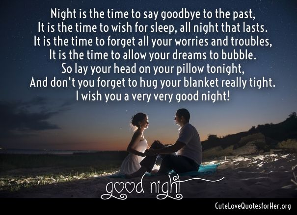 Romantic good night poems for girlfriend