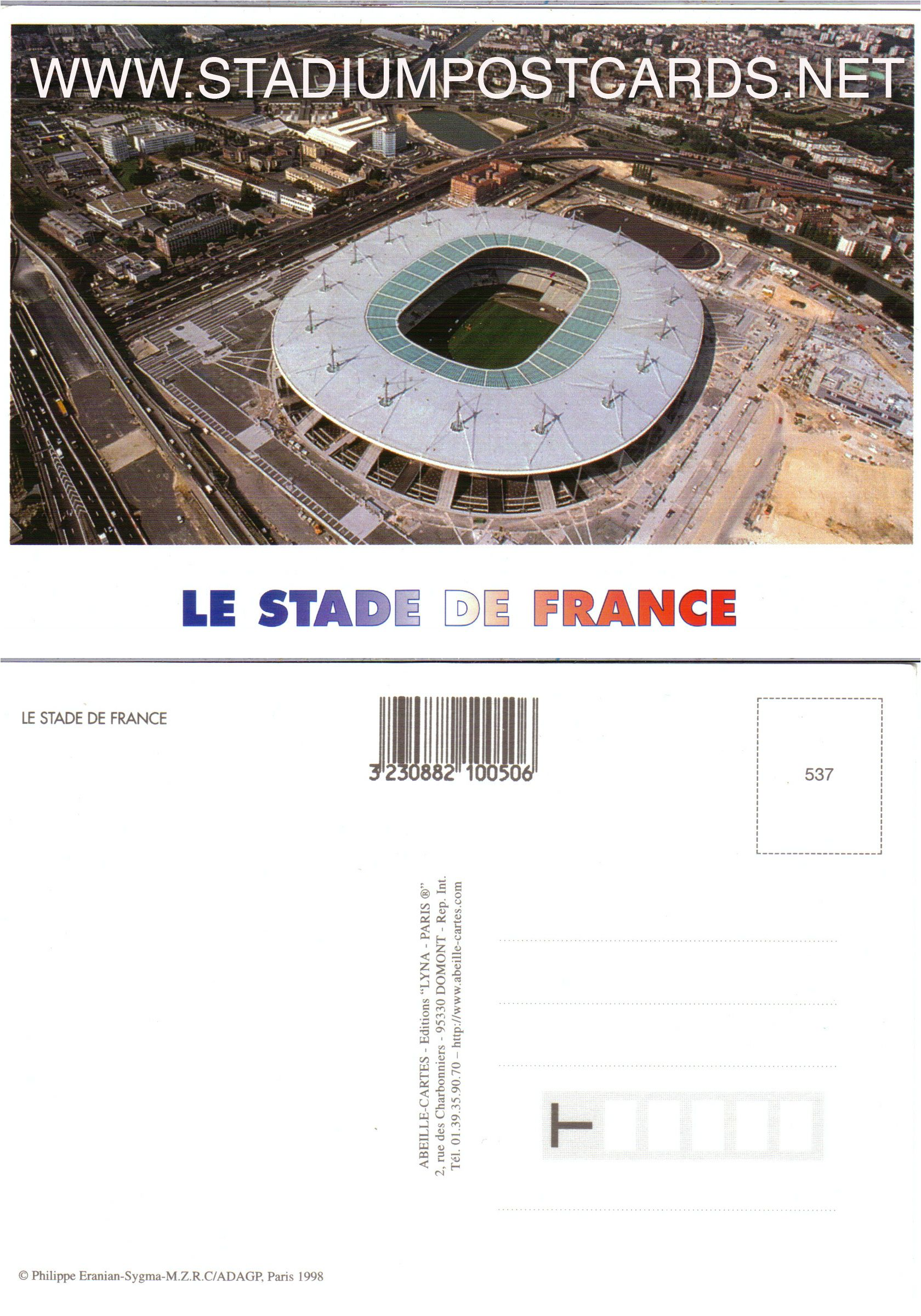 1 50 Code Fra 018 Saint Denis De France Stadium