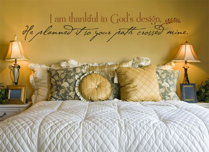I am thankful in God\'s design, he planned it so your path crossed ...