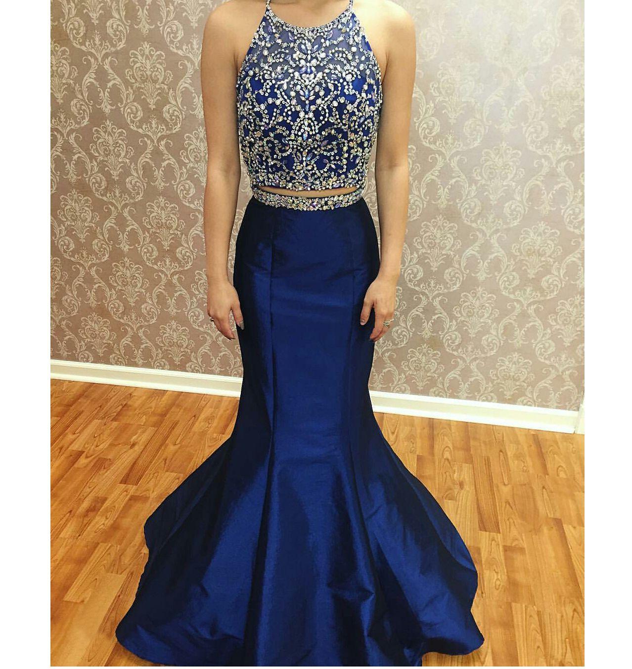 Womenus sparkle piece beaded prom dressesroyal pieces