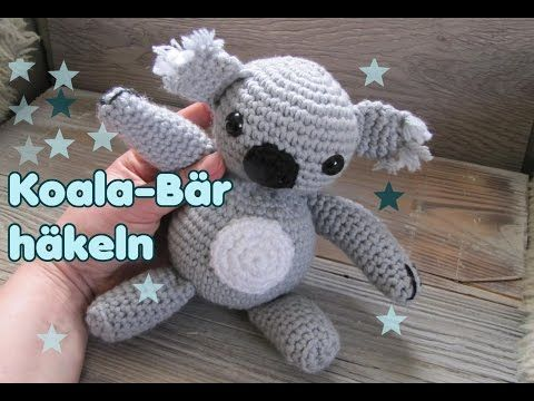 koala b r kuscheltier h kelanleitung f r anf nger youtube amigurumi. Black Bedroom Furniture Sets. Home Design Ideas