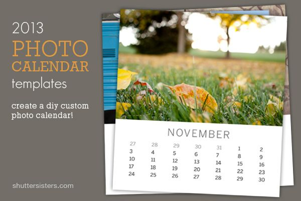 Make Your Own Photo Calendar Template Fits In A Cd Case For Display
