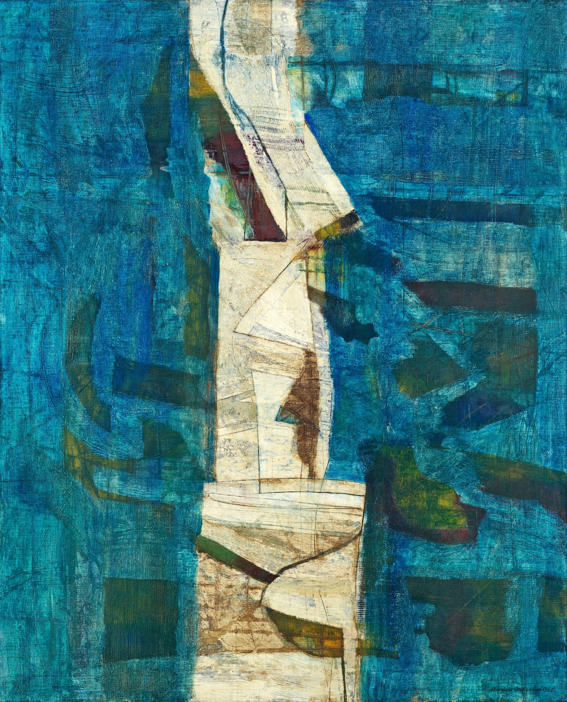 Anders Österlin - Figuration mot blått - 1960