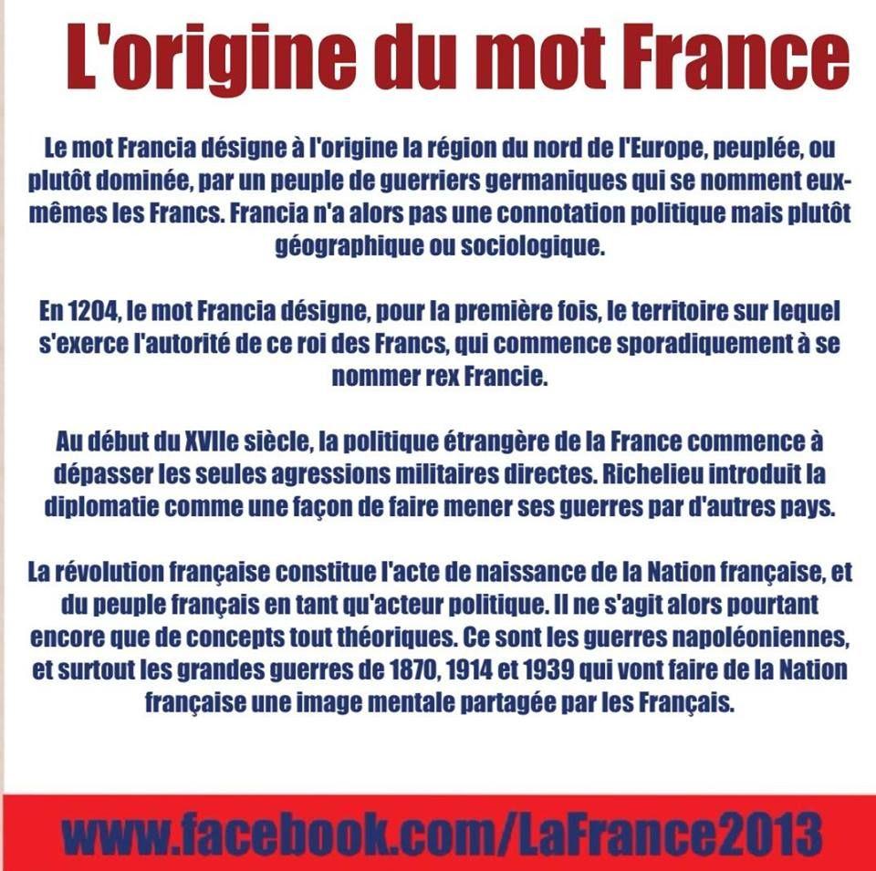 l u0026 39 origine du mot france