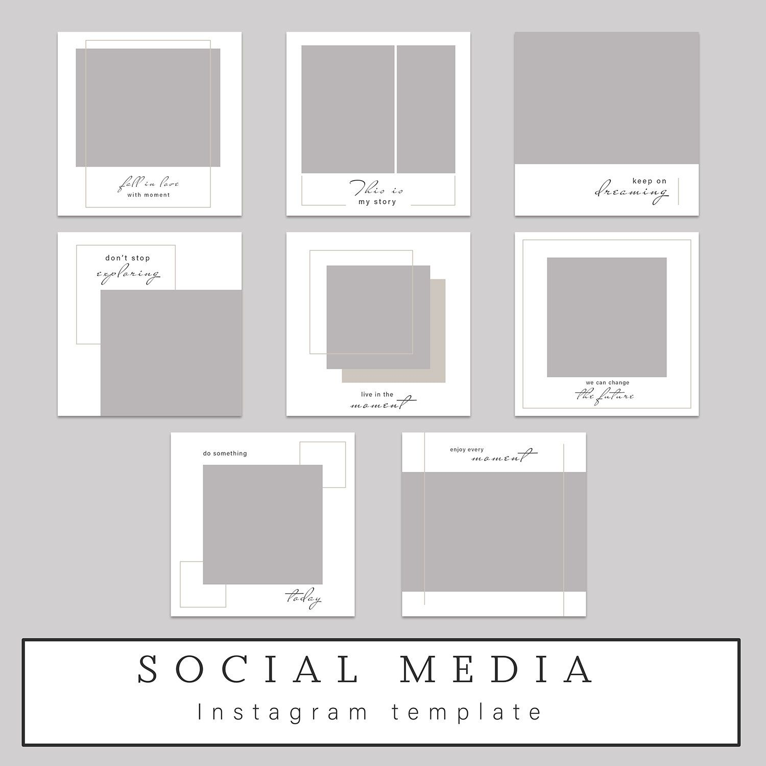 Square Template Photoshop Template Instagram Template Facebook Templates Instagram Post Editable Template Square Post Instagram Template Instagram Square Instagram Template Design