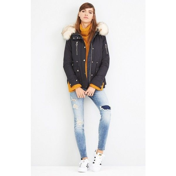Women's Topshop Trevor Parka With Faux Fur Trim Hood ($140 ...