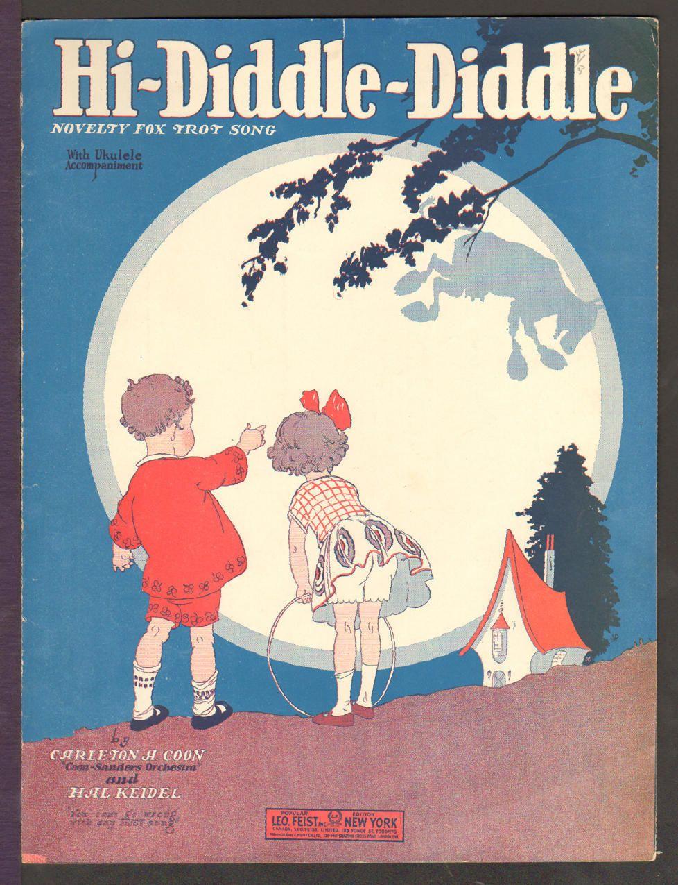 Hi Diddle Diddle 1926 Novelty Fox Trot Song Kids Vintage Sheet Music   eBay