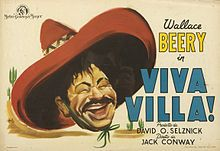 """Wallace Beery in Viva Villa 24/""""x36/"""" Canvas Classic Movie Poster"""