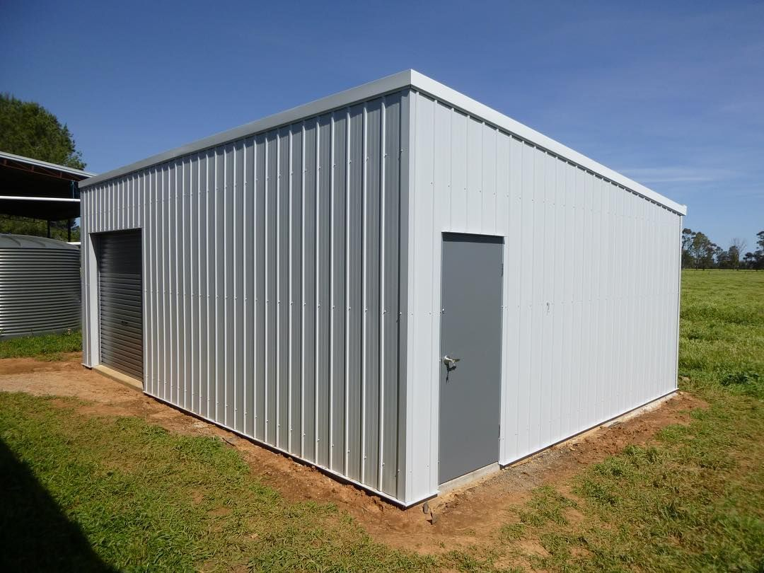 Sheds like sites come in also shapes and sizes we custom design to work with your to design and site for the ideal shed, man cave, barndominium, garage, workshop, pool house, kids retreat #custombuilt #design #justforyou #individual #steel #shed #garage #mancave #imagination #colorbond