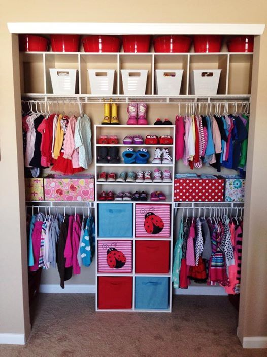 Closet organization for kids room