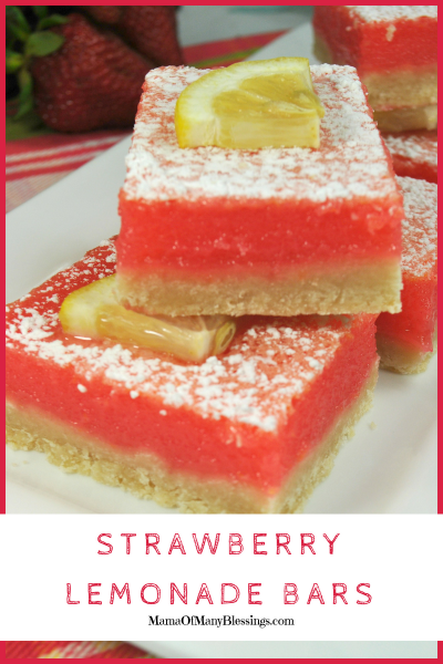 Amazingly Delicious Strawberry Lemonade Bars