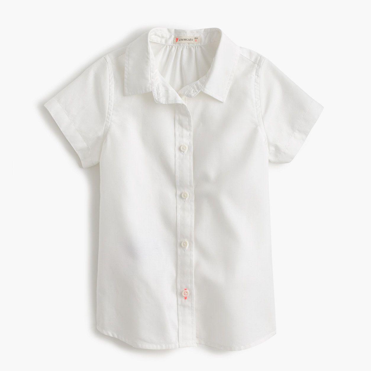 4049d41079f crewcuts Girls Short-Sleeve Tissue Oxford Shirt (Size 12 Kid ...