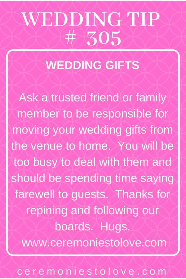 During all the excitement of your reception, one thing may slip your mind - transporting wedding gifts.  This… | Wedding planning tips, Wedding tips, Budget wedding