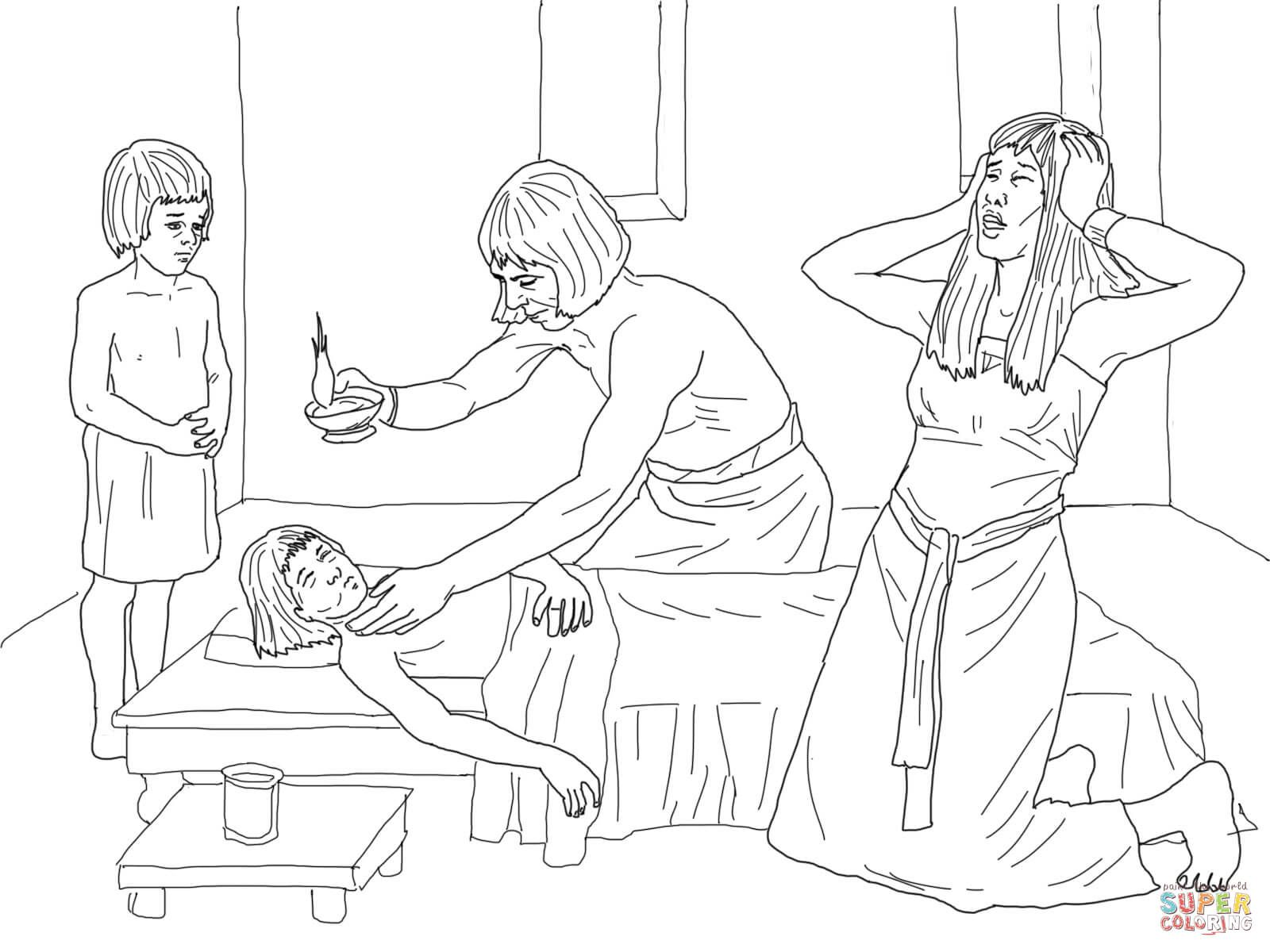 Death of the Firstborn coloring page from Moses category. Select ...