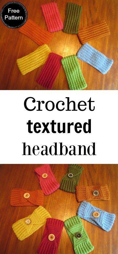 Crochet Textured Headband | Crochet | Pinterest | Ganchillo, Tejido ...