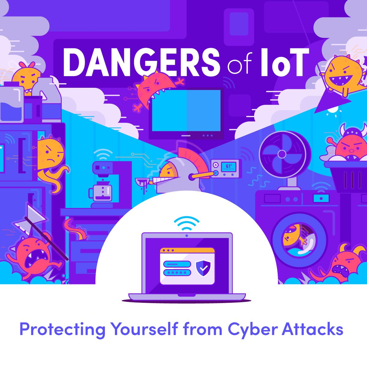 How Do You Show The Potential Dangers Of The Technology Scattered About Your Home Without Being Overly Creepy Turn Them Into Little Cyber Attack Cyber Home Security Systems