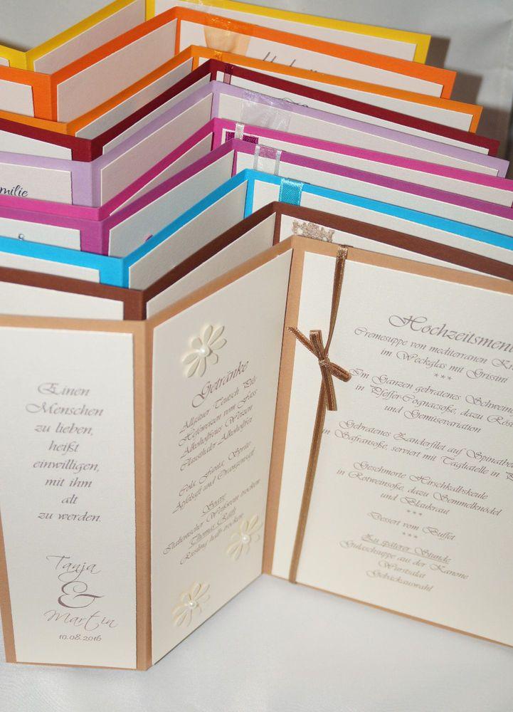 Menukarte Getrankekarte Und Tischkarte In Einem Hochzeit