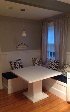 DIY Breakfast Nook With Storage   DIY Projects. Corner Bench Kitchen TableCorner  ...