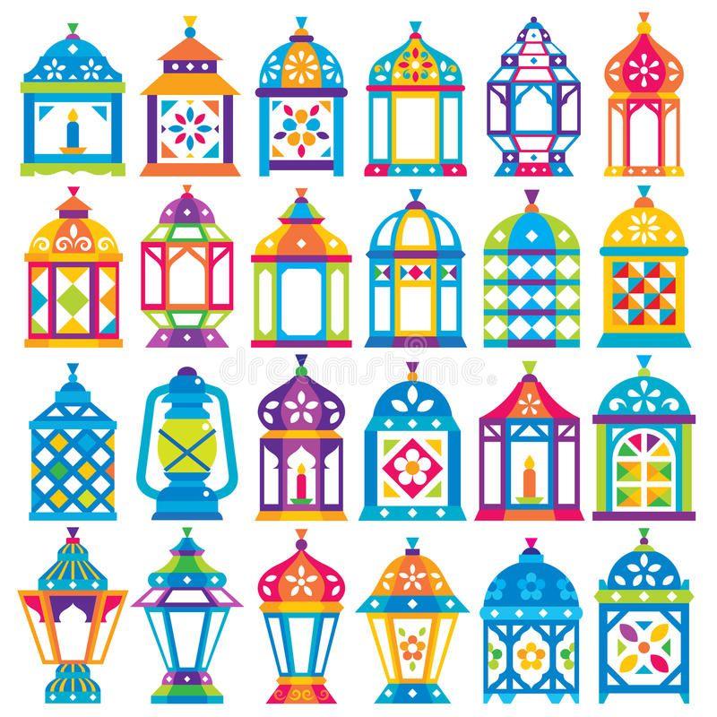 Set Of 24 Ramadan Lanterns Flat Style Design Happy Ramadan Ad Ramadan Lanterns Set Design H Ramadan Lantern Ramadan Kareem Decoration Ramadan