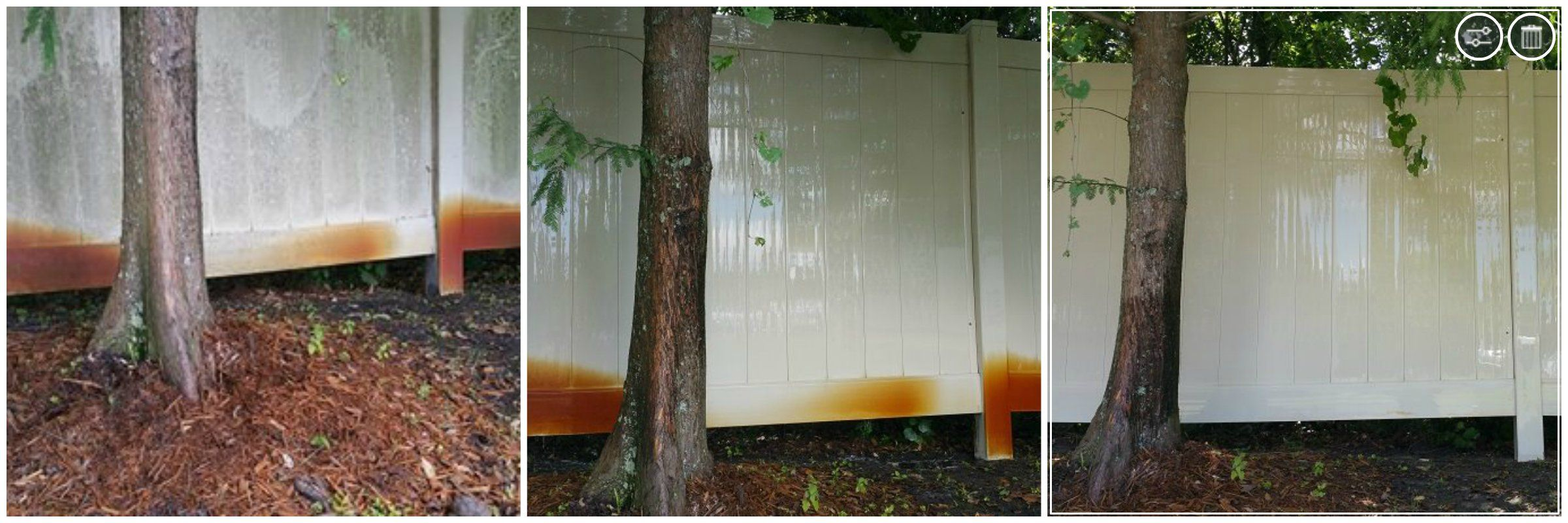 Cleaning Mold Mildew And Rust From A White Vinyl Fence