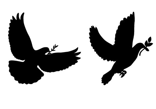 Peace Dove #Silhouette Here it is two awesome, lovely peace