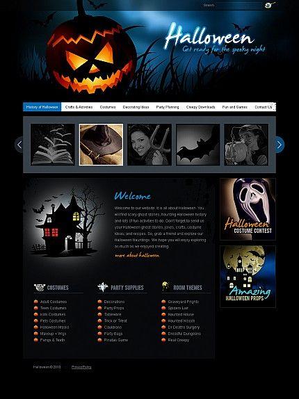 Halloween Flash Website Template #holiday http://www.templatemonster.com/flash-cms-templates/41331.html?utm_source=pinterest&utm_medium=timeline&utm_campaign=hallo
