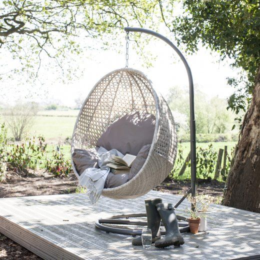 hanging chairs indoor uk 8 chair kitchen table wallace sacks brighton rattan pod with stand from