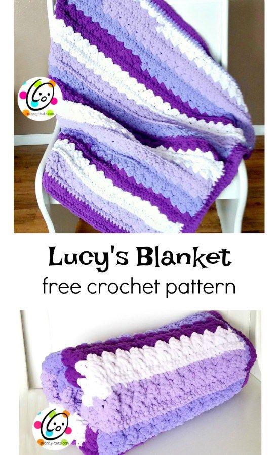 Free Pattern: Lucy\'s Blanket | Handarbeiten, Häkeln und Stricken