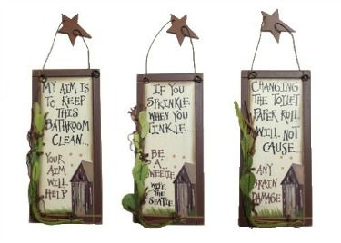 primitive outhouse bathroom decor love the sayings