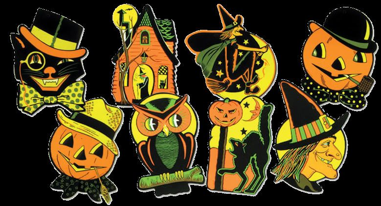 vintage halloween clip art Posted by Halloweenman666 at 912 PM - halloween window clings