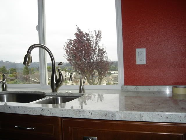 Kitchen Backsplash No Upper Cabinets backsplash with no upper cabinet..anyone with a 2 inch