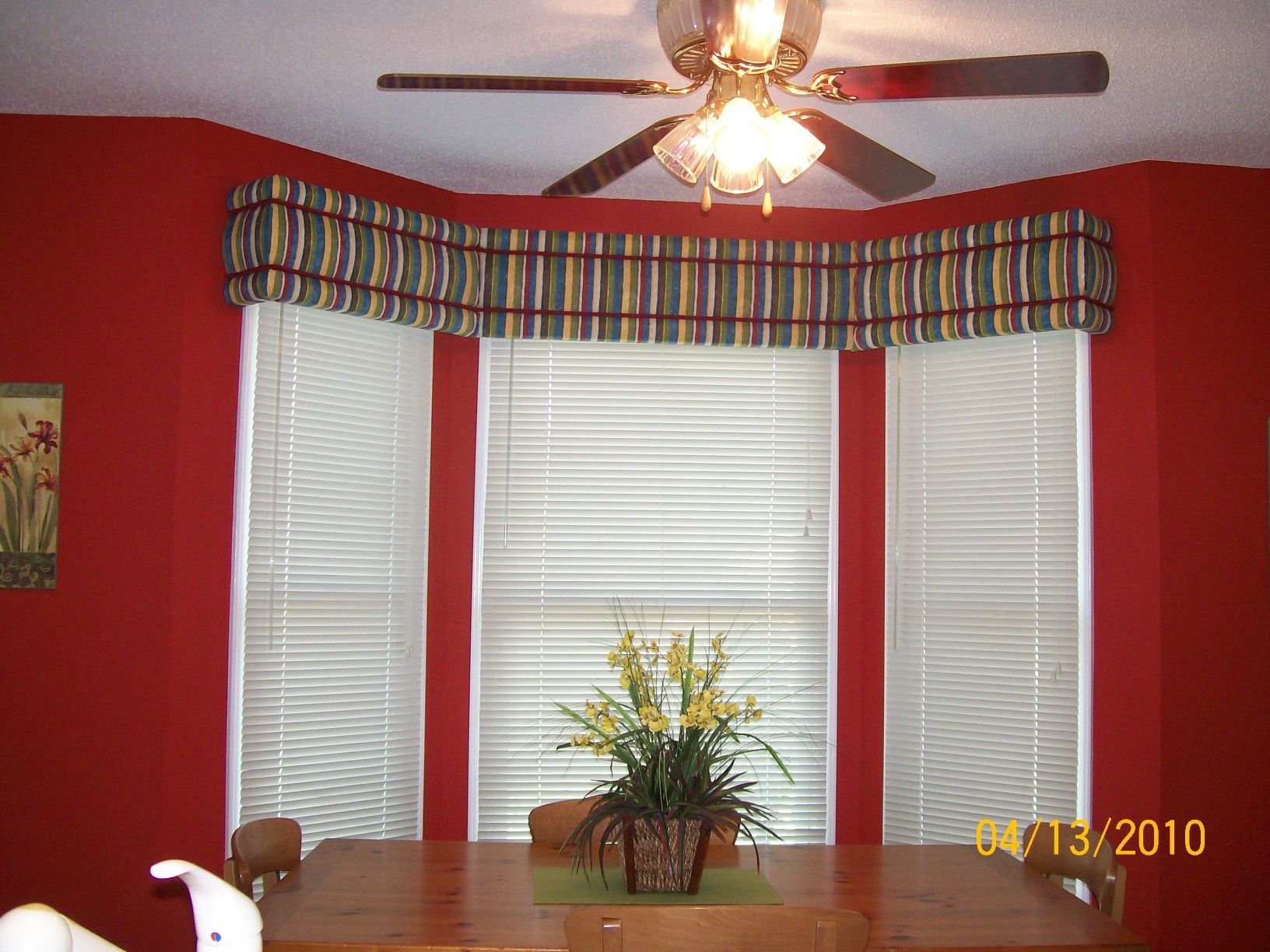 Kitchen Bay Window Ideas Avalon No Sew Window Cornice Decorating .