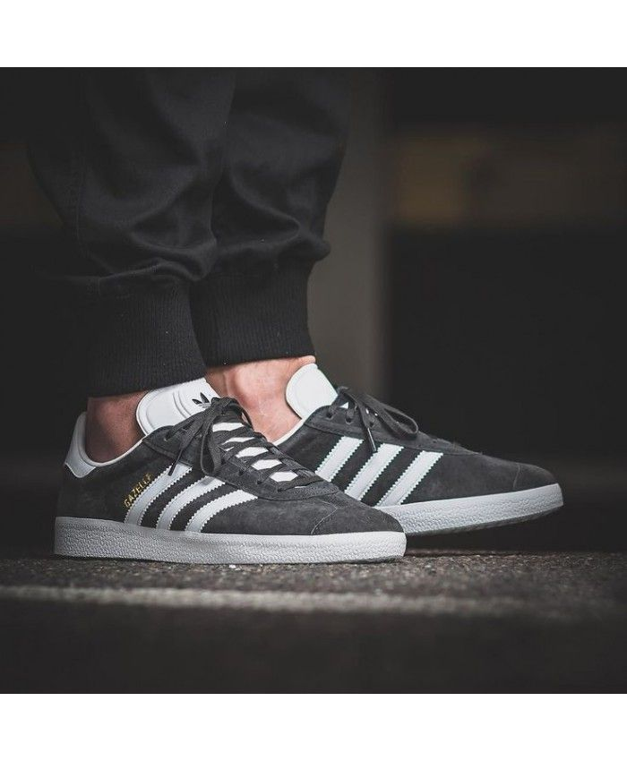 the latest 9d05c 540f5 Adidas Originals Gazelle Wolf Grey White Trainer